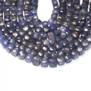 blue cube faceted beads 6mm – 7mm 8-line 5 U$ Per Carat