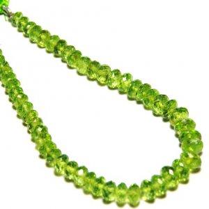 4mm-7mm PERIDOT faceted beads 8 line 10 U$ Per Carat