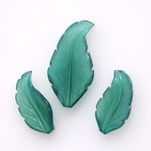 3 pice set Handmade Carving Leaf shape 33ct 10x20mm 14x20mm 22$