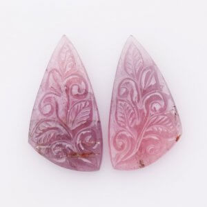 Fancy Shape Natural Tourmaline Gemstone Handcrafted Carving 14x23mm