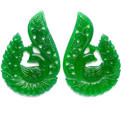 Green Jade Carvings 2 U$ Per Carat