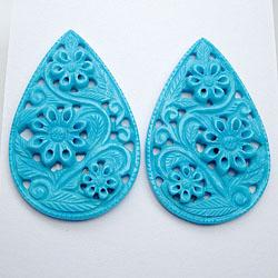 Turquoise Carvings 8 U$ Per Carat